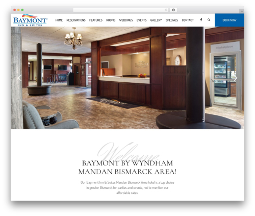 Hotel LUX best hotel WordPress theme - baymontmandan.com