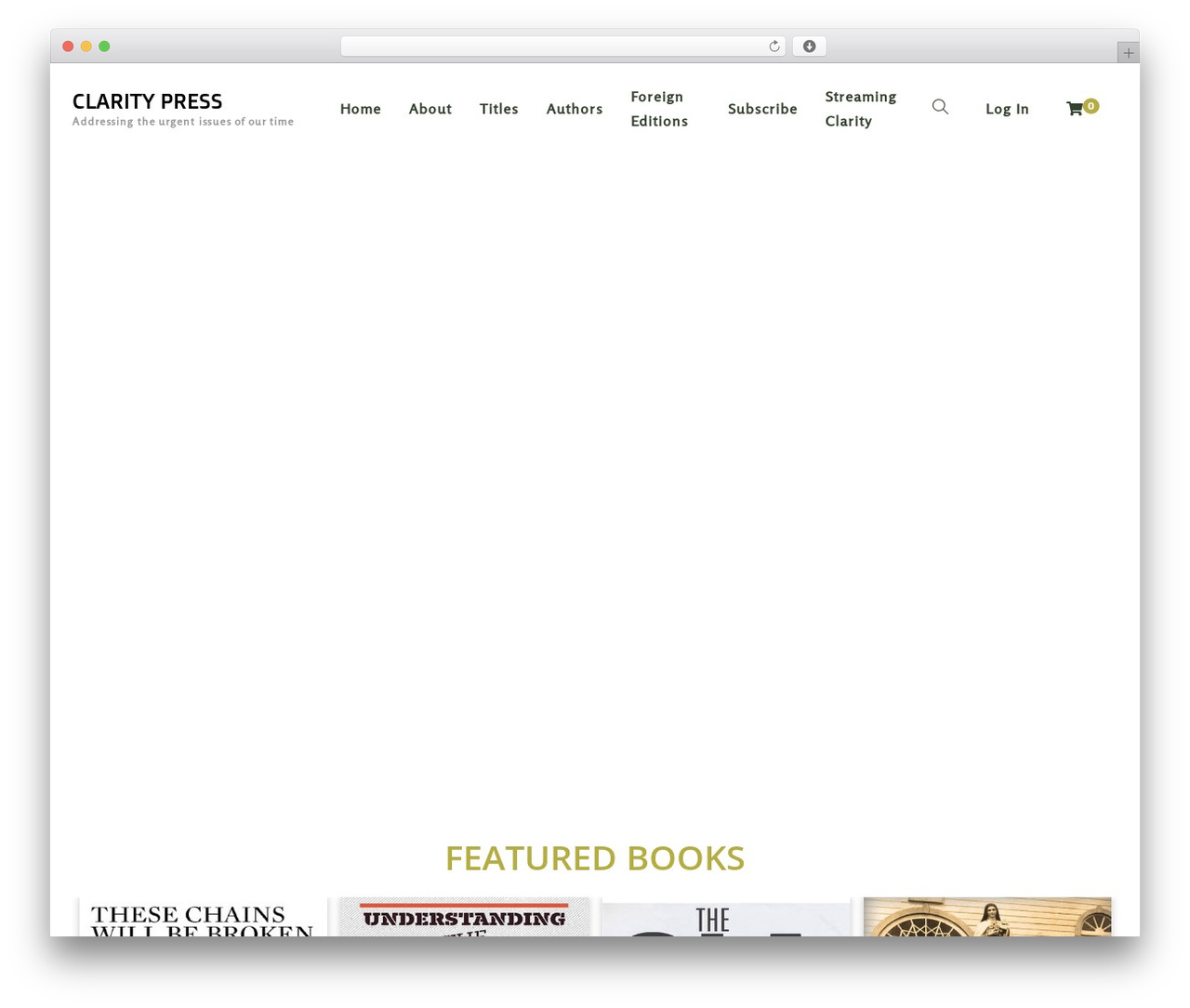 Livre template WordPress - claritypress.com