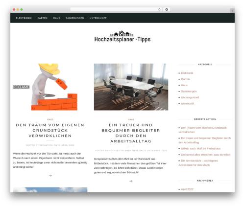 Solien template WordPress - hochzeitsplaner-tipps.de