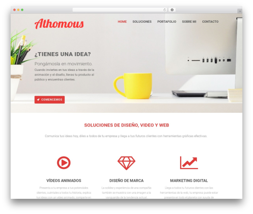 WordPress website template Orao - athomousfilms.com