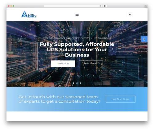 Best WordPress template Sunergy - abilityinfosystems.com
