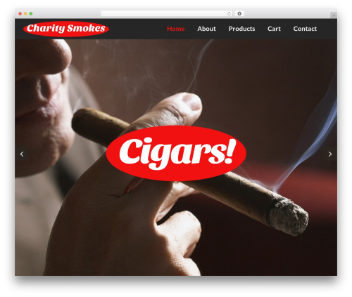 cherry WordPress website template - charitysmokes.com