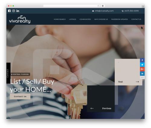 Dreamland WordPress template - vivarealty.com