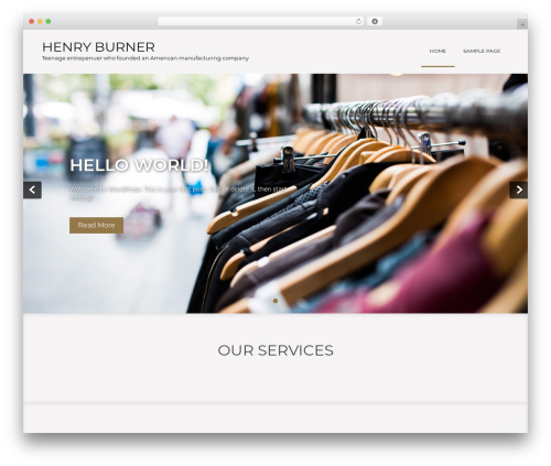 Showcase Lite theme WordPress - henryburner.com
