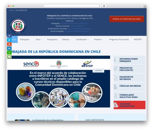 WordPress theme Candidate - embajadadominicana.cl