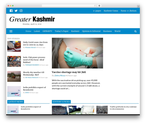 Greater kashmir e paper today