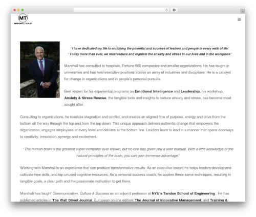 Protheme WordPress page template - marshalltarley.com