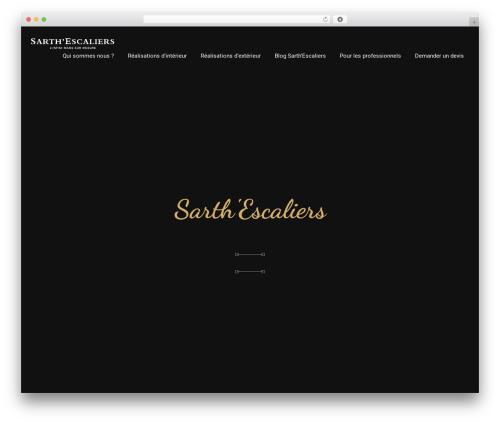 silvana WordPress theme design - sarthe-escaliers.com