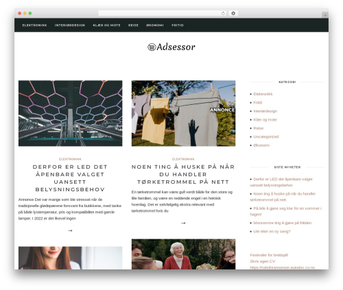 Solien premium WordPress theme - adsessor.no