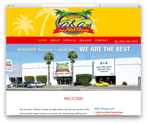 WordPress website template Divi Child - aa-autocollision.com