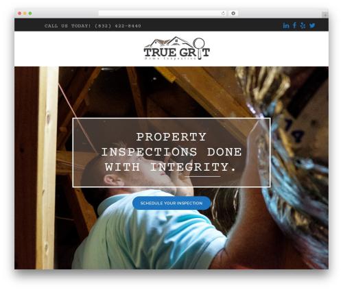 bizzy best WordPress theme - truegrithomeinspection.com