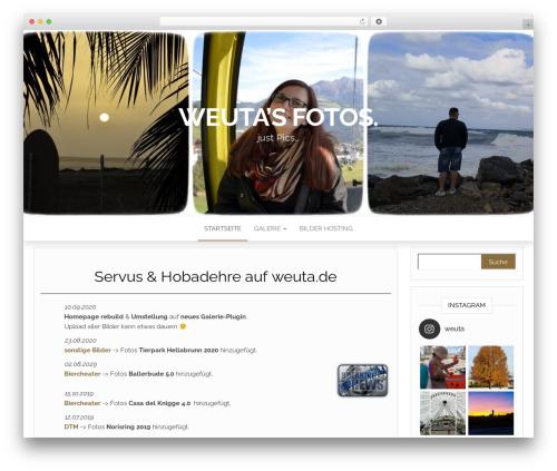 Head Blog WordPress theme - weuta.de