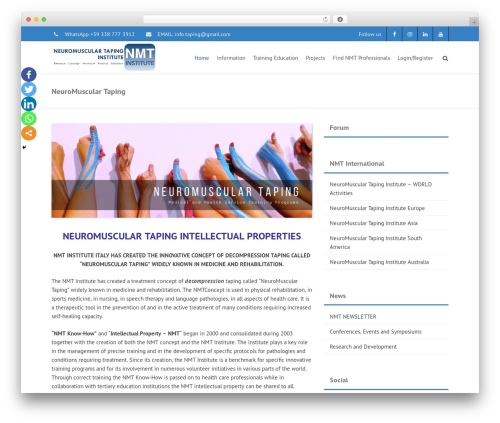 THBusiness Pro WordPress theme design - neuromusculartaping.com