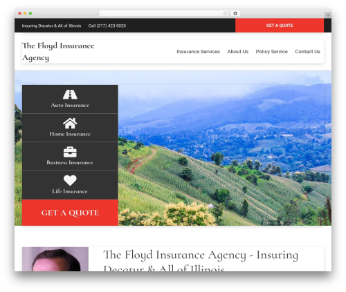 WordPress theme BrightFire Stellar - thefloydagency.com