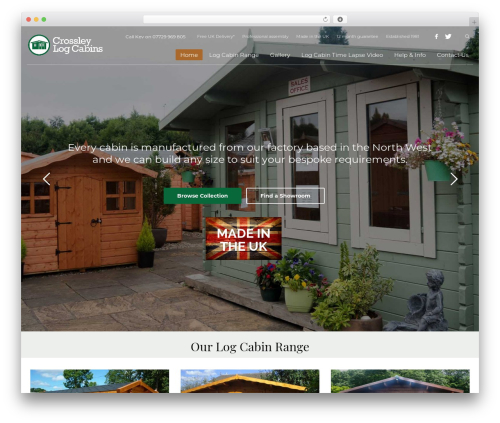 WordPress theme Kallyas - crossleylogcabins.co.uk