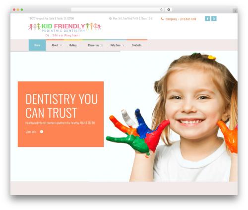 Best WordPress theme Kidsplanet - kidfriendlydental.com