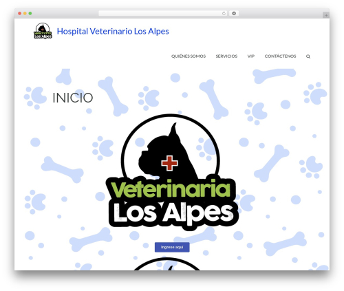Pet Business WordPress template for business - hospitalveterinariolosalpes.com