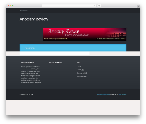 Reviewgine Affiliate WordPress template free - ancestryreview.com
