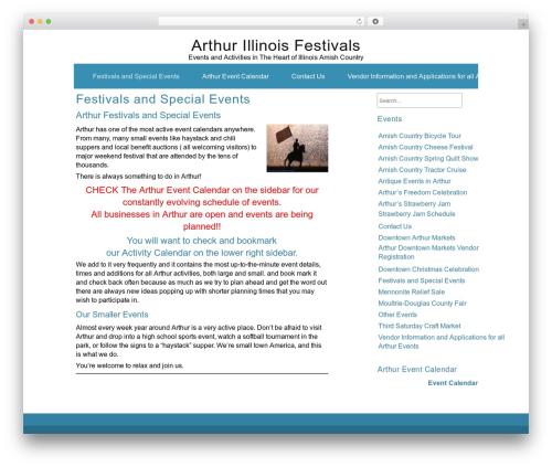 ZenWater WP template - arthurfestivals.com