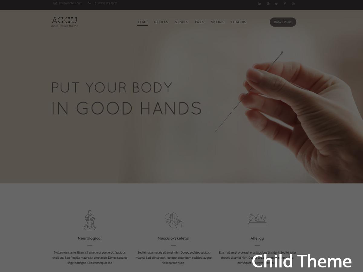 Accu Child medical WordPress theme