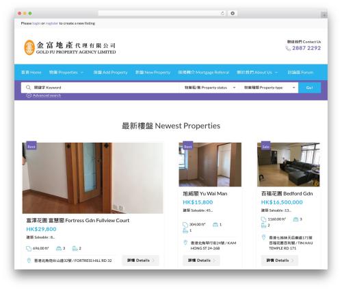 CozyHouse real estate template WordPress - goldfuproperty.com