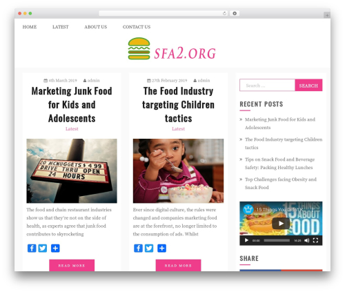 Gist food WordPress theme - sfa2.org