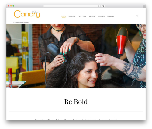 Hair & Beauty best WordPress template - canarysalon.com