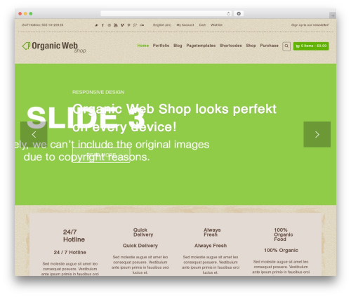 Organic Web Shop WordPress shop theme - samsunggearvrprice.com