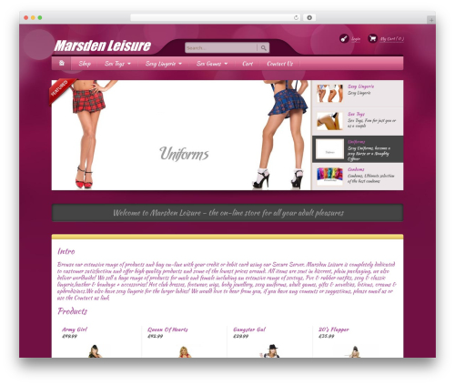 Best WordPress template Bellissima - marsdenleisure.com