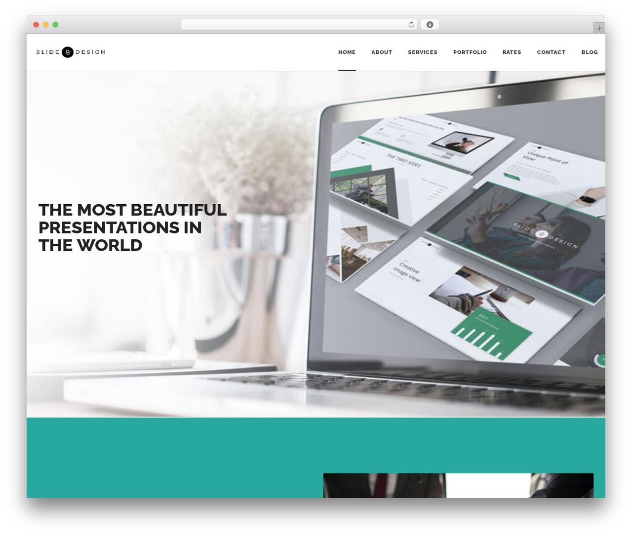 Best WordPress template Dalton - slideanddesign.com