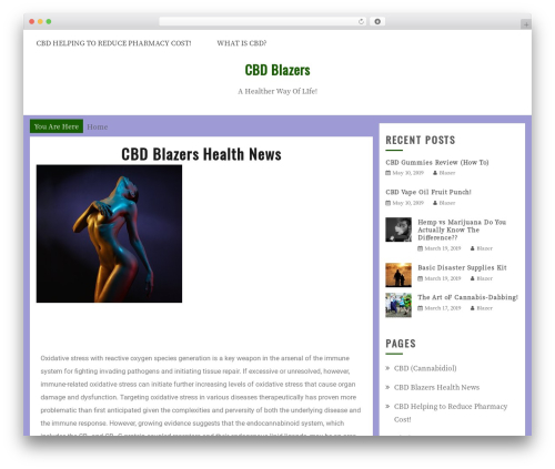 Gist theme WordPress - cbdblazers.com