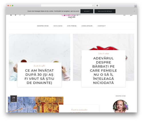 Malina WordPress blog theme - monicascrie.ro