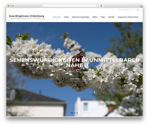 Shuttle Pro premium WordPress theme - boardinghouse-ol.de