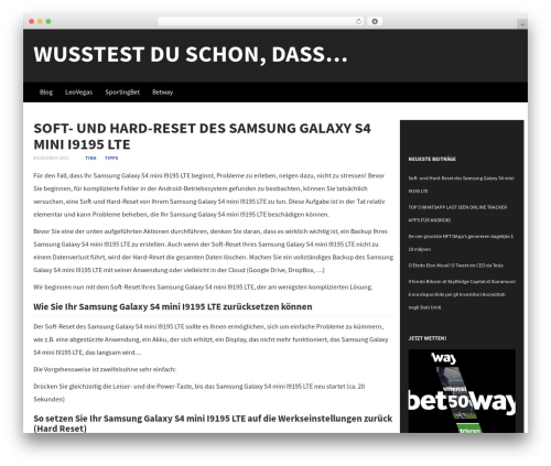 Subtle top WordPress theme - gaesselin.de