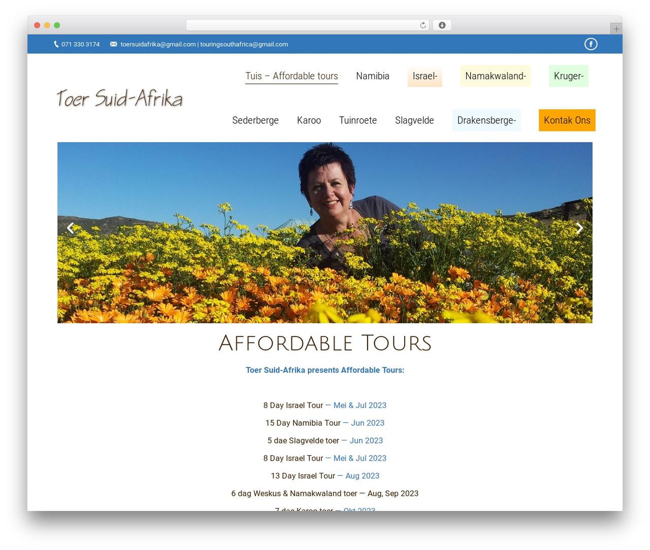 The7   Shared by VestaThemes.com WordPress theme - toersuidafrika.com