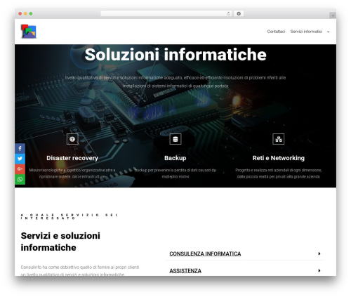 Theme WordPress neve - consulinfo.it