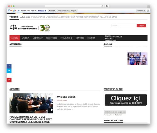WordPress website template Endolf - barreaudegoma.org