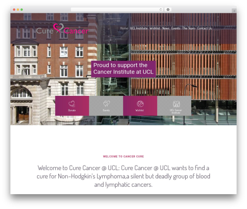 WP theme Children Charity - curecancer-ucl.org