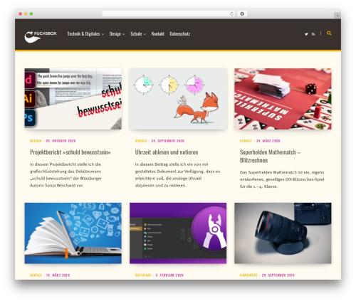 Contentberg WordPress ecommerce template - fuchsbox.de