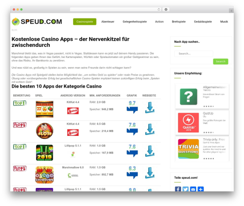 Eco Friendly Lite WordPress blog theme - speud.com