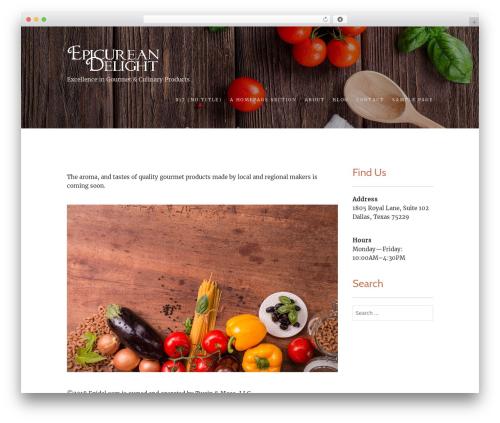 Food Express WordPress template free - epidel.com