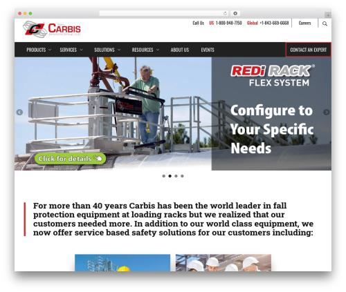 Carbis top WordPress theme - carbissolutions.com