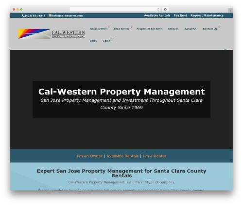 Divi best WordPress template - calwestern.com