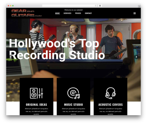 WordPress theme Bridge - gearandguitars.com