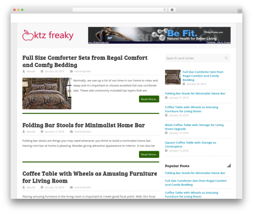 WordPress theme ktz freak - bendadi.com