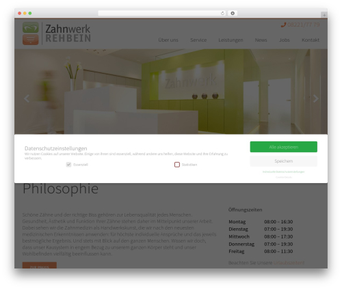 Avada WordPress website template - zahnwerk-rehbein.de