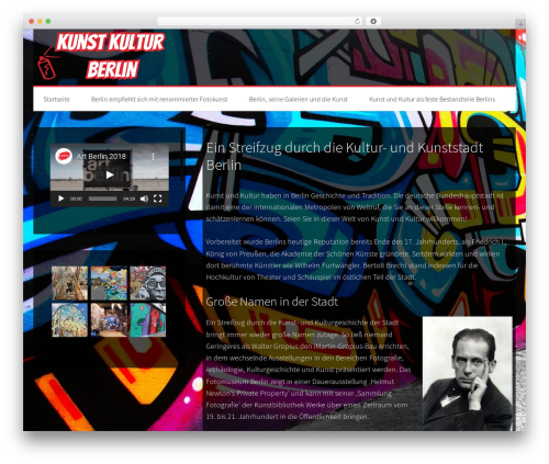 Generate Pro WordPress website template - kunst-kultur-berlin.de