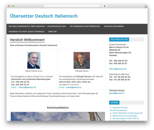 Merlin best free WordPress theme - uebersetzungen-deutsch-italienisch.ch