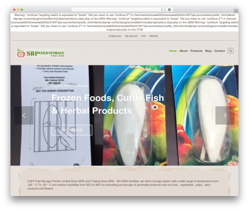 Organic Web Shop WordPress theme - sbpcoldstorage.com