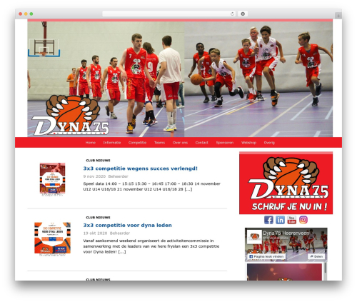 Redesign Sportlinkclubsites WordPress page template - dyna75.nl
